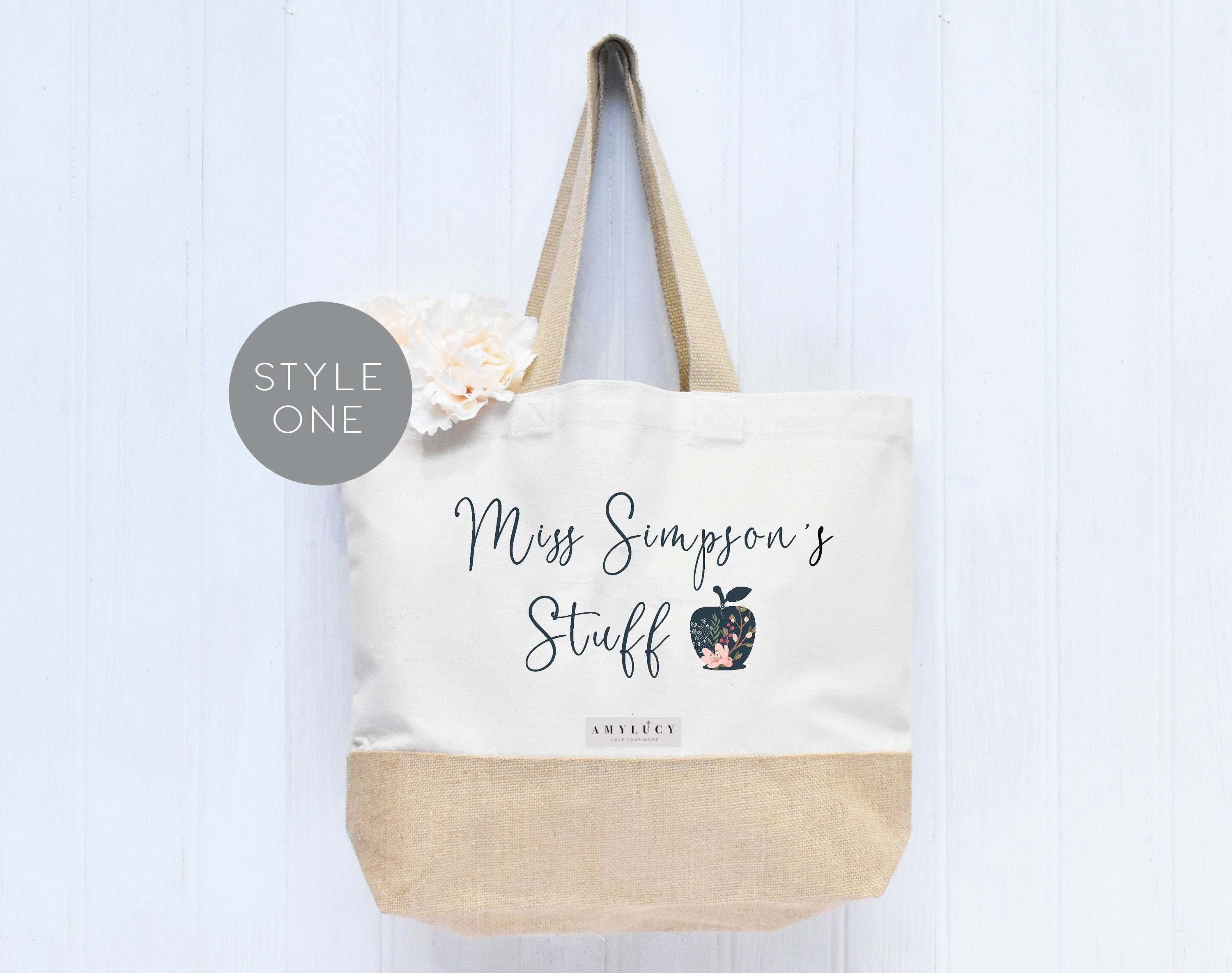 Personalized Tote Bag  Personalized Teacher Tote   Personalized Teacher Gift  Tote Bags For Women  Teacher Tote Bag
