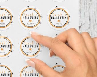 Personalised Halloween Stickers, Halloween Accessories, Halloween Gift Bag Stickers, Halloween Favour, Halloween Decoration Stickers
