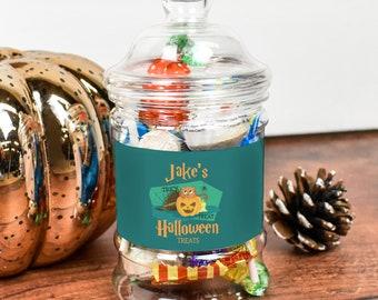 Personalised Halloween Sweet Jars, Pumpkin Sweet Jars, Halloween Treats, Halloween Gifts, Halloween Party Favour, Treats, Halloween Sweets,
