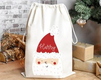 Personalised Santa Sack, Christmas Sack, Child's Christmas Gift Sack, Kids Santa Bag, Santa Toy Bag, Santa Toy Sack, Kids Christmas Gift Bag