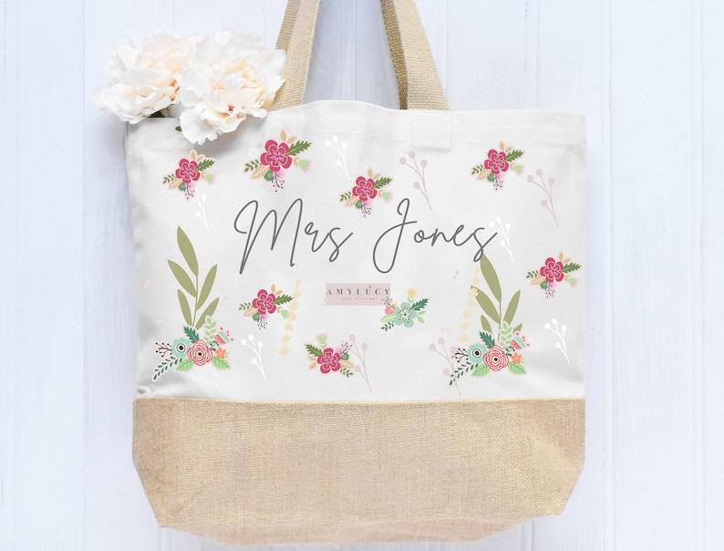 Personalised Teacher Tote Bag Teacher gift