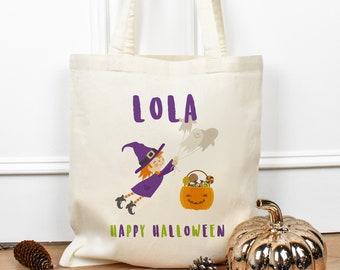 Personalised Halloween Treat Bag, Halloween Sweet Bags, Halloween Candy Bag, Personalised Trick Or Treat Bag, Kids Loot Bags, Child's Bag