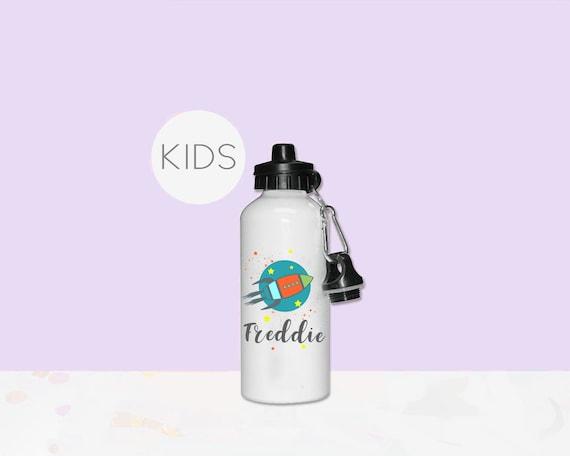 Personalised Custom Shark Smiling Boys 400ml Kids Children/'s Water Drinks Bottle