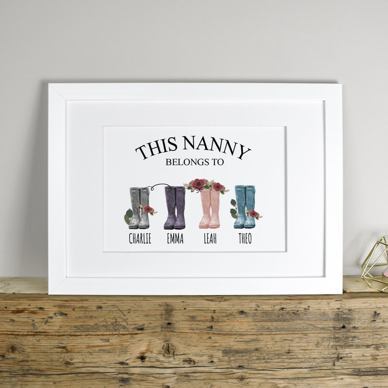 Personalised Nanny Print Personalised Mothers Day Print image 0