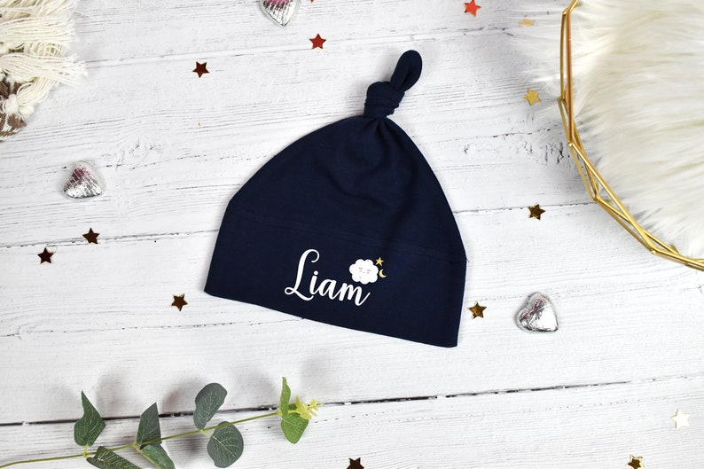 Personalised Baby Boy Gift Customised Baby Gift Personalised New Baby Gift Baby Boy Hat Vest /& Bib Personalised New Baby Boy Gift Set
