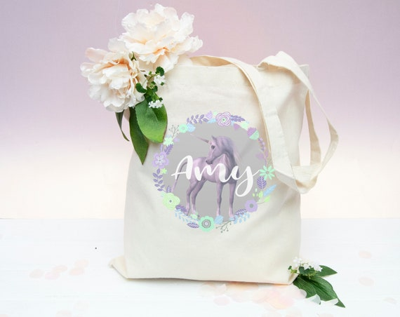 Unicorn Glitter Personalised Hen Party Tote Bag