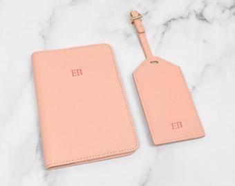 Personalised Passport Holder Set, Name Passport Holder and Luggage Tag, Personalised Luggage Tag, Personalised Travel Set, Holiday Gift Set