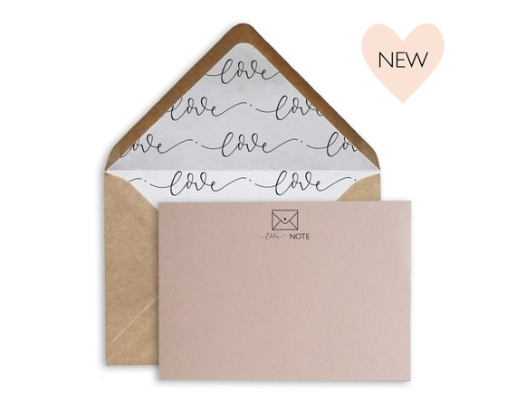 Love Note, A6 hand lettered notecard set
