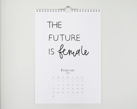 2021 Female Empowerment Quotes reference wall calendar