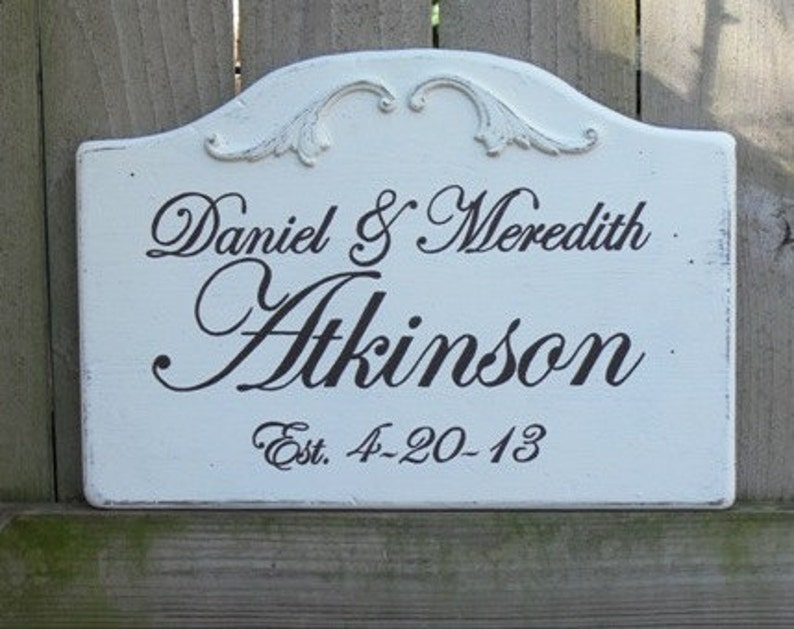 Handmade Custom Wood Signs Personalized To Include Family Name Last Name Wedding Date Home Address Signs With 20 To 30 Characters
