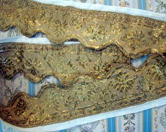 French gold metallic trim 18th-century for pillows, benche, boxes