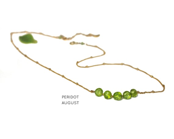Peridot Necklace. August Birthstone. Multi Stone Necklace. Gift for Sister. Healing Stones. In Gold Filled, Silver, Rose Gold. N2606