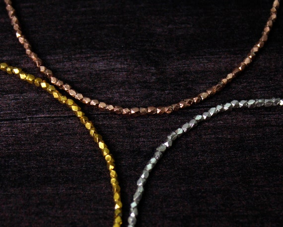 Hill Tribe Layering Bracelet. Skinny Stacking Bracelet. Tiny Hill Tribe beads in Gold,  Rose Gold, Black Silver or Silver.