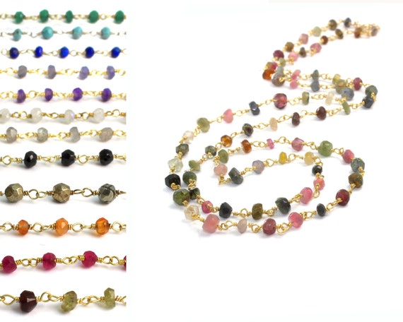 Tourmaline Layering Necklace. Personalize with Birthstone Options. Converts to Wrap Bracelet. NM-1791