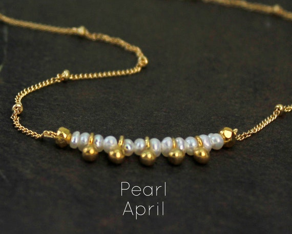 Pearl Choker. June Birthstone. Healing Stone. Clarity and Purity. Adjustable Choker. In Gold Filled, Silver, Rose Gold. N2607