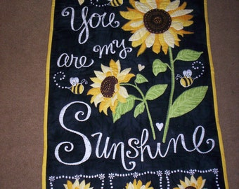 Hand Quilted You Are My SunShine Wall Hanging