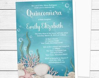 Under The Sea Invite Etsy