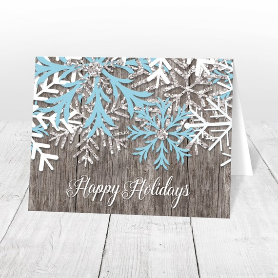 47ee69b96fb Holiday Cards - Rustic Winter Wood Snowflake Printed Christmas Cards -  Country Happy Holidays Christmas Cards. Artistically Invited
