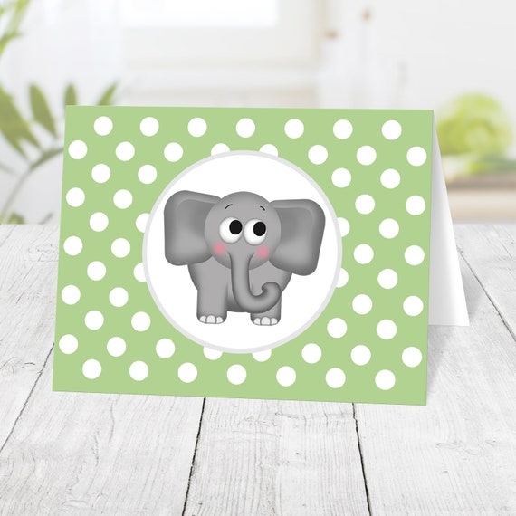 Polka Dots Watercolor Elephant Invitations With Envelopes Elephant Baby Shower Invitations For Boy Baby Elephant Fill In The Blanks Invites Set Of 20 4.25 x 5.5