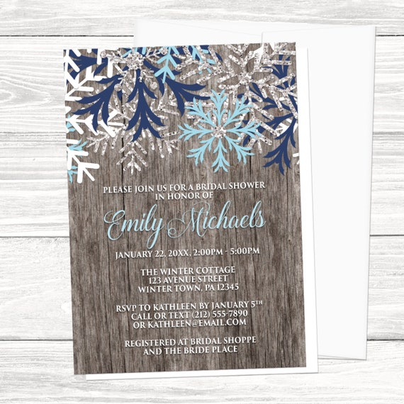 Rustic winter bridal shower invitations country rustic etsy image 0 filmwisefo