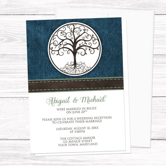 Tree Of Life Reception Only Invitations
