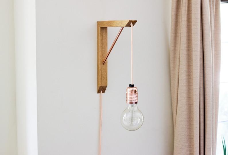 Lighting Bracket & Pendant Light  Wooden Light Bracket  image 0