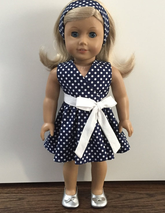 Easter Spring Shift Dress American Made Doll Clothes For 18 Inch Girl Dolls