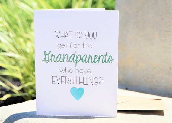 Pregnancy reveal to new great grandparents greeting card etsy image 0 m4hsunfo