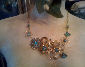 Custom broach necklace- I find the vintage beauties