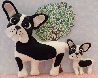 French Bulldog Sewing Pattern. Instant Download PDF for decoration, keyring, bag charm