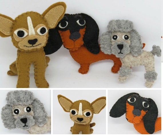 Dog Sewing Pattern for Chihuahua Poodle Dachsund. Felt | Etsy