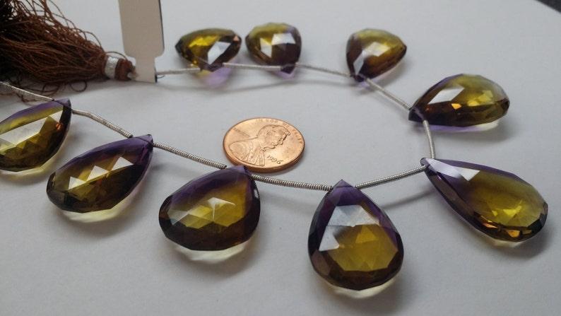 Ametrine Hydro Quartz Pear Faceted
