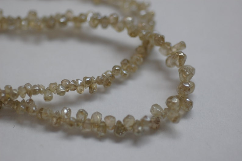 Rough Cut Drop Yellow Natural Zircon Faceted Platinum Polished