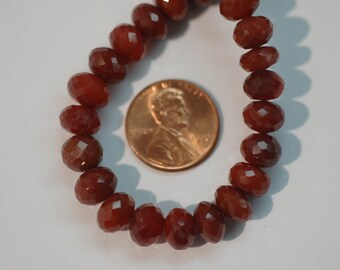 Brown Chalcedony Rondelle Faceted