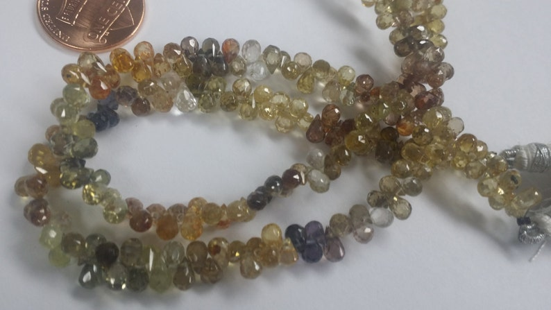 Natural Multi Zircon Drops Faceted