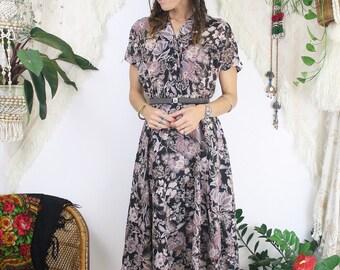 Floral vintage picnic dress, Medium 4162