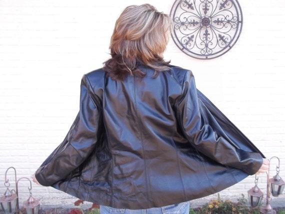 Carol/'s Rose Garden Blank card Black Leather jacket on cover