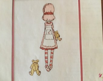 PEEKABOO - BONNETS - BEARS - Cross Stitch Pattern Only