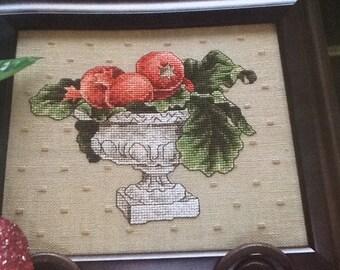 C - Pomegranate Centerpiece - Cross Stitch Pattern Only