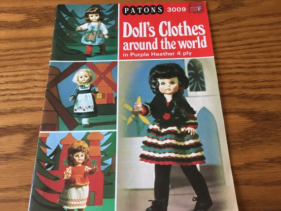 18 Inch Doll Clothes Around The World Knitting Patterns Etsy