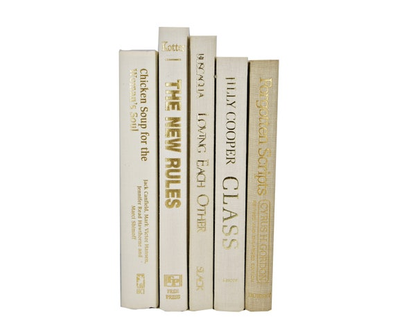 Ivory White Decorative Books,  Beige Book Bundle,Book Collection, Old Book Decor, W Edding Centerpiece, B Ook Set, Home Decor by Etsy
