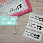 Qty 200 - Custom satin clothing label - Custom Garment label - Printed Clothing labels  - Custom brand label - Clothing labels