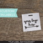 Qty 200 - Custom satin clothing label - Custom Garment label - Printed clothing labels - Custom brand label - Logo Label - Clothing labels
