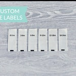 Qty 200 - Custom size labels - Baby size labels - Toddler size labels - Children's size labels - Adult size labels - Clothing labels