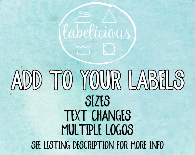 Add sizes or text changes to your current label order please image 0