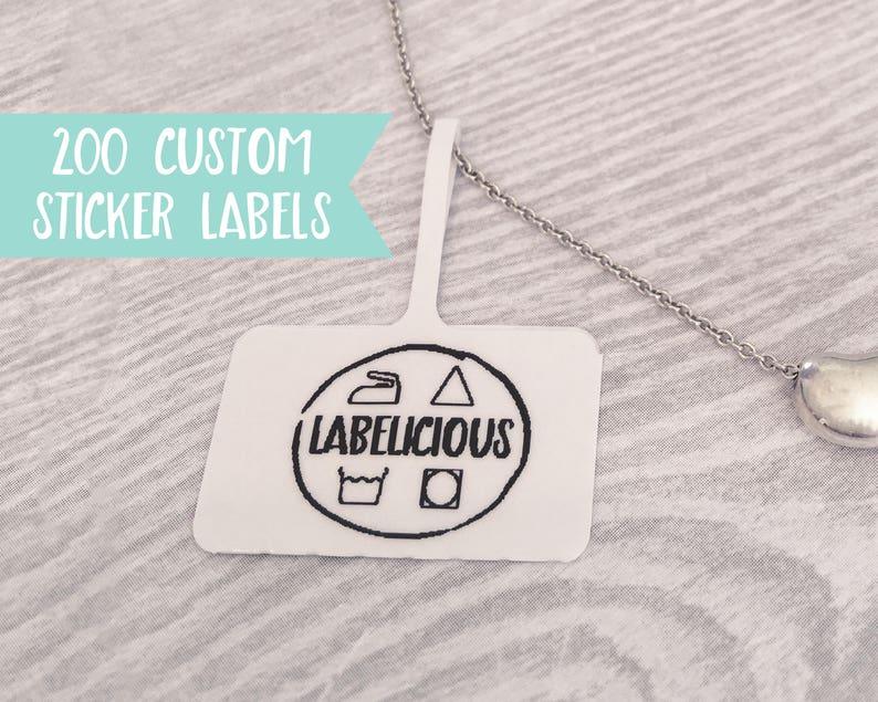 Qty 200  Custom jewellery tag  Small custom label  Custom image 0