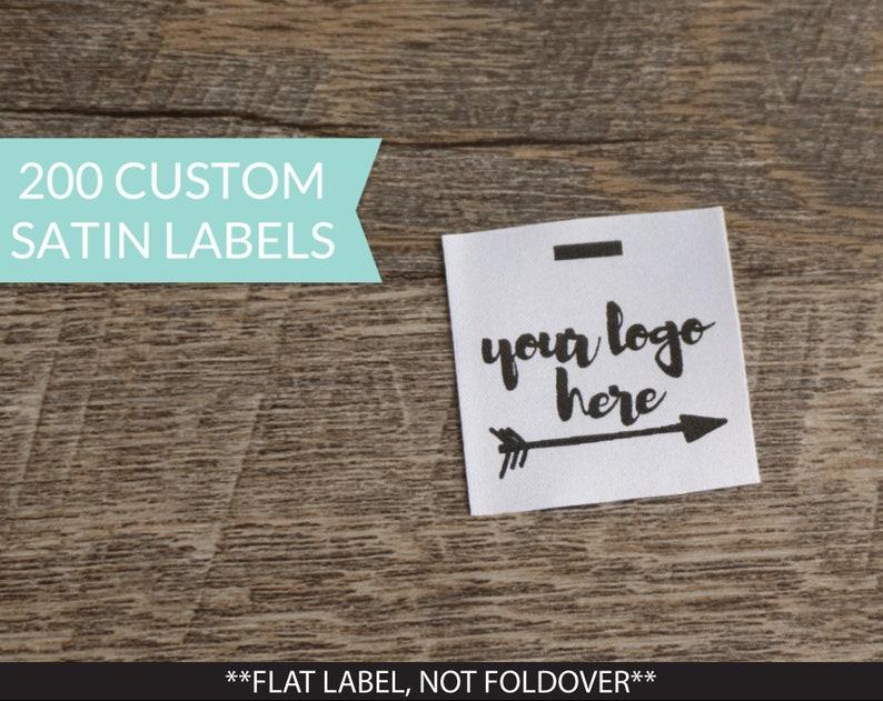 Qty 200  Custom satin clothing label  Custom Garment label  image 0