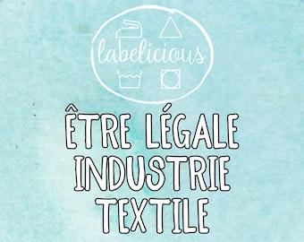 """Qty 200 - Être Légale Industrie Textile Petits Hang Tags personnalisés  1 3/8"""" x 2 3/4"""""""