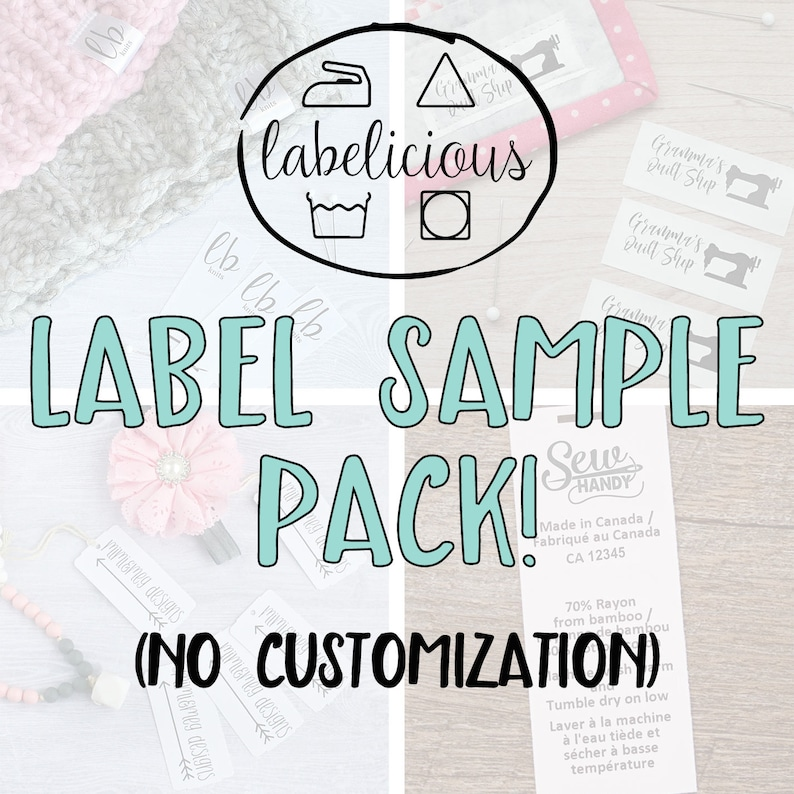 Label sampler pack  Label sample pack  Branding sample pack image 0