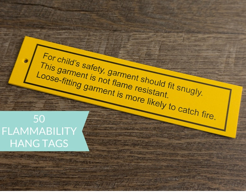 Flammability Hang Tag Warning labels  Yellow Flammability image 0